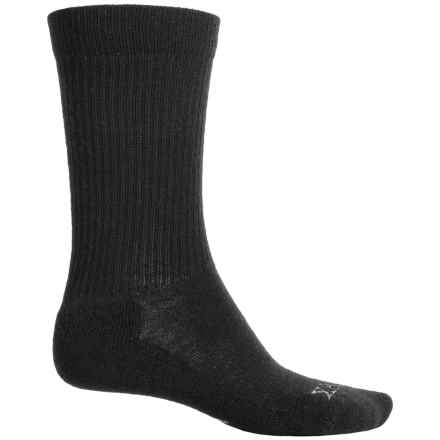 Ibex Solid Ribbed Socks - Merino Wool, Crew (For Men and Women) in Black - Closeouts