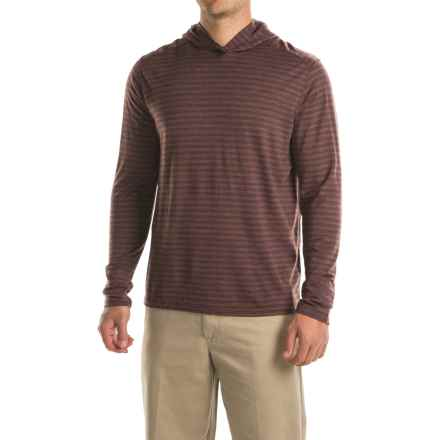 Ibex Straightaway Hoodie - Merino Wool (For Men) in Cider Striped - Closeouts
