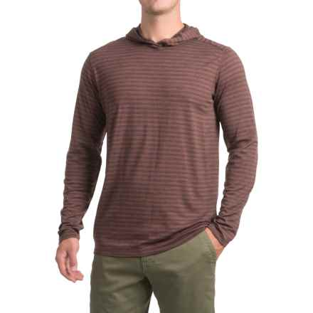 Ibex Straightaway Hoodie - Merino Wool (For Men) in Cider Stripe - Closeouts