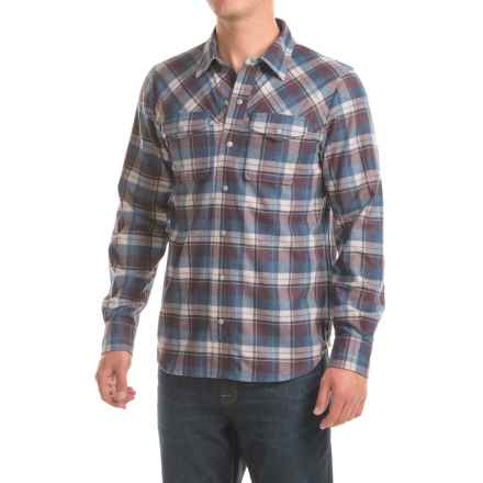 Ibex Taos Plaid Shirt - Snap Front, Long Sleeve (For Men) in Coastal Plaid - Closeouts