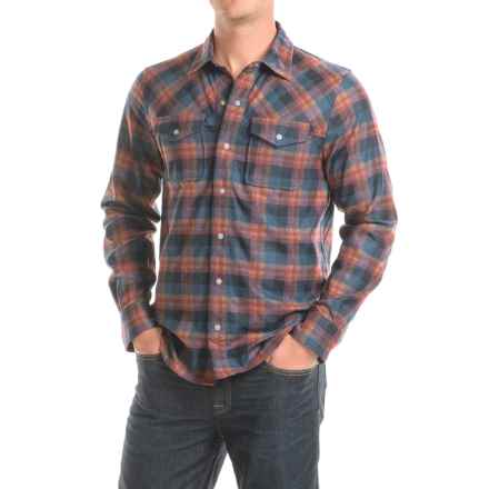 Ibex Taos Plaid Shirt - Snap Front, Long Sleeve (For Men) in Equinox Plaid - Closeouts