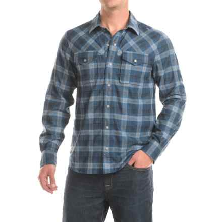 Ibex Taos Plaid Shirt - Snap Front, Long Sleeve (For Men) in Northern Sea Plaid - Closeouts
