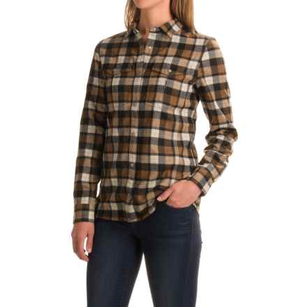 Ibex Taos Plaid Shirt - Snap Front, Long Sleeve (For Women) in Saddle Plaid - Closeouts