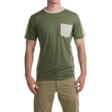 Ibex Tretar T-Shirt - Merino Wool, Short Sleeve (For Men) in Canteen - Closeouts