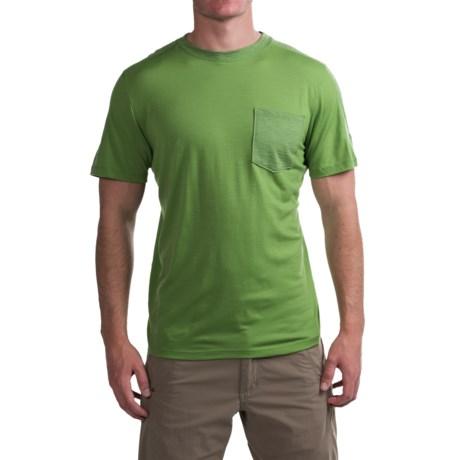 Ibex Tretar T-Shirt - Merino Wool, Short Sleeve (For Men) in Gecko