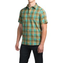 Ibex Trip Wool Shirt - Short Sleeve (For Men) in Everglades Plaid - Closeouts