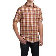Ibex Trip Wool Shirt - Short Sleeve (For Men) in Farm House Plaid - Closeouts