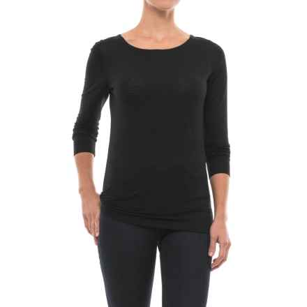 Ibex Videria Scoop-Back Shirt - Merino Wool, Long Sleeve (For Women) in Black/Astral - Closeouts