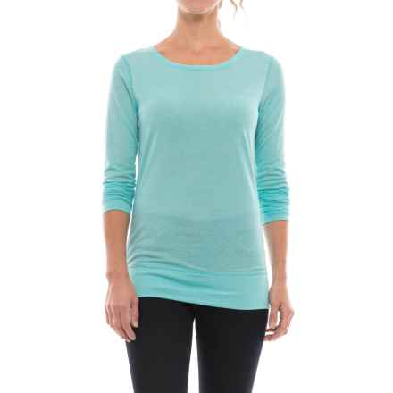 Ibex Videria Scoop-Back Shirt - Merino Wool, Long Sleeve (For Women) in Damselfly/Astral - Closeouts