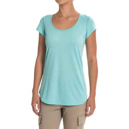Ibex Videria Shirt - Merino Wool, Short Sleeve (For Women) in Damselfly/Astral - Closeouts