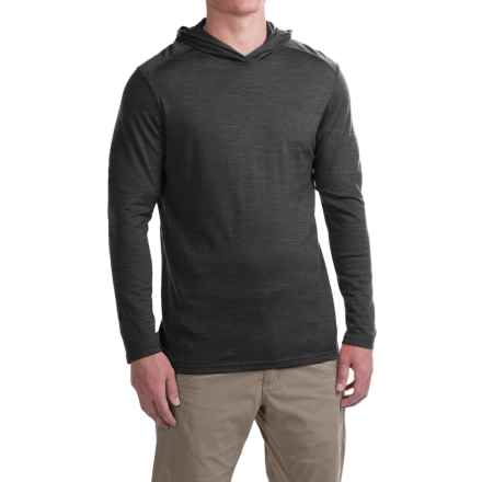 Ibex VT Hoodie - Merino Wool (For Men) in Pewter Heather - Closeouts