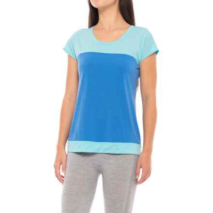 Ibex W2 Kinetic T-Shirt - Merino Wool, Short Sleeve (For Women) in Lazuli - Closeouts