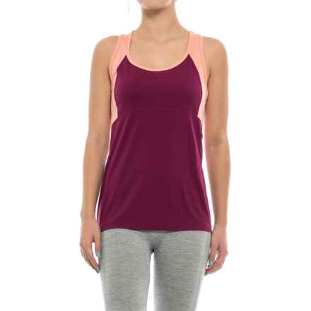 Ibex W2 Racerback Tank Top - Merino Wool (For Women) in Dahlia - Closeouts