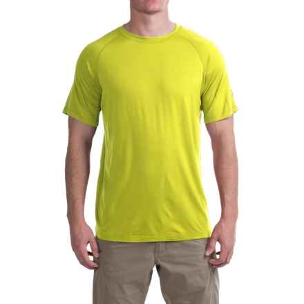 Ibex W2 Sport Basic T-Shirt - Merino Wool, Short Sleeve (For Men) in Wild Lime - Closeouts