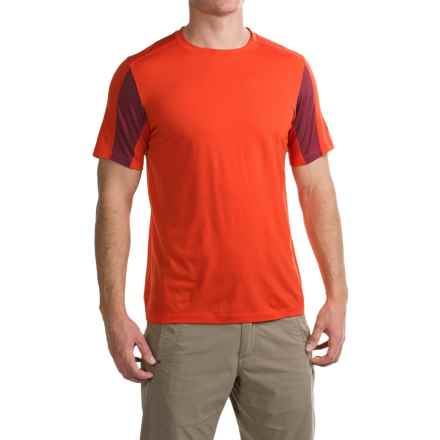 Ibex W2 Sport T-Shirt - Merino Wool, Short Sleeve (For Men) in Cayenne - Closeouts