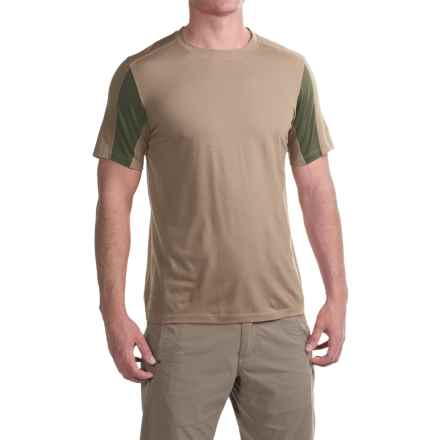 Ibex W2 Sport T-Shirt - Merino Wool, Short Sleeve (For Men) in Sandbar - Closeouts