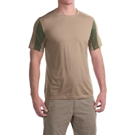 Ibex W2 Sport T-Shirt - Merino Wool, Short Sleeve (For Men) in Sandbar