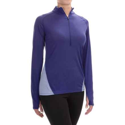Ibex W2 Sport Zip Neck Shirt - Merino Wool, Long Sleeve (For Women) in Iris - Closeouts