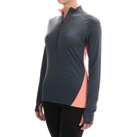 Ibex W2 Sport Zip Neck Shirt - Merino Wool, Long Sleeve (For Women) in Slate - Closeouts