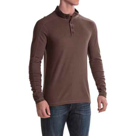 Ibex Waffle-Knit Henley Shirt - Merino Wool, Long Sleeve (For Men) in Archer - Closeouts