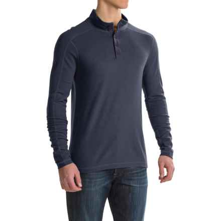 Ibex Waffle-Knit Henley Shirt - Merino Wool, Long Sleeve (For Men) in Midnight - Closeouts