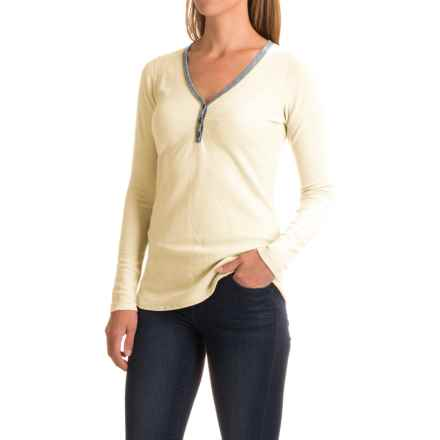 Ibex Waffle-Knit Henley Shirt - Merino Wool, Long Sleeve (For Women) in Birch - Closeouts