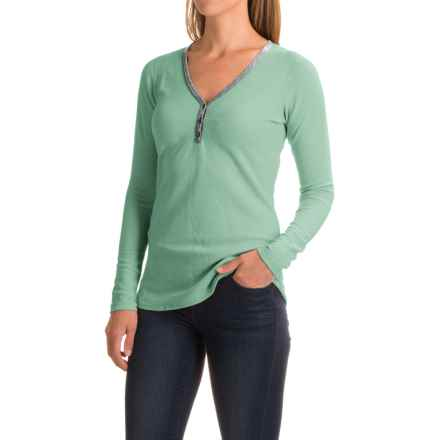 Ibex Waffle-Knit Henley Shirt - Merino Wool, Long Sleeve (For Women) in Meadow - Closeouts