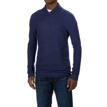Ibex Waffle-Knit Shawl Collar Shirt - Merino Wool, Long Sleeve (For Men) in Midnight - Closeouts