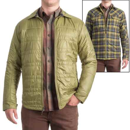 Ibex Wool Aire Reversible Camp Shirt Jacket (For Men) in Peat Moss - Closeouts