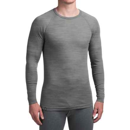 Ibex Woolies 1 Base Layer Top - Crew Neck, Long Sleeve (For Men) in Stone Grey Heather - Closeouts