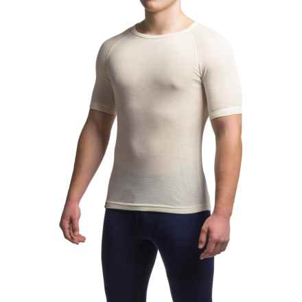 Ibex Woolies 1 Base Layer Top - Merino Wool, Short Sleeve (For Men) in Birch - Closeouts