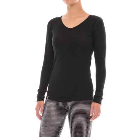 Ibex Woolies 1 Base Layer V-Neck Top - Merino Wool, Long Sleeve (For Women) in Black - Closeouts