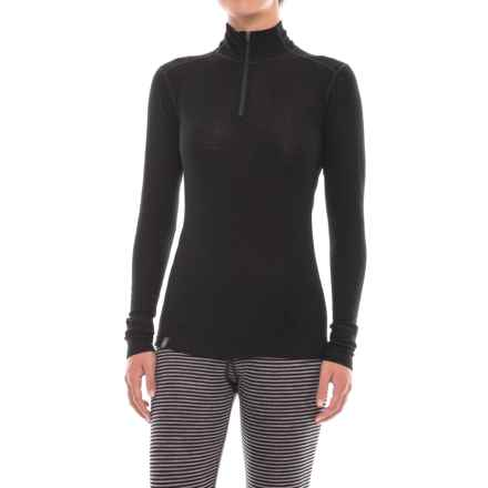 Ibex Woolies 1 Base Layer Zip Turtleneck - Merino Wool, Long Sleeve (For Women) in Black - Closeouts