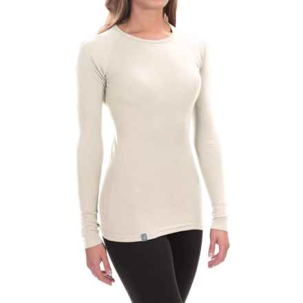 Ibex Woolies 1 Crew Base Layer Top - Merino Wool, Long Sleeve (For Women) in Birch - Closeouts