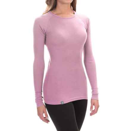 Ibex Woolies 1 Crew Base Layer Top - Merino Wool, Long Sleeve (For Women) in Soapstone - Closeouts