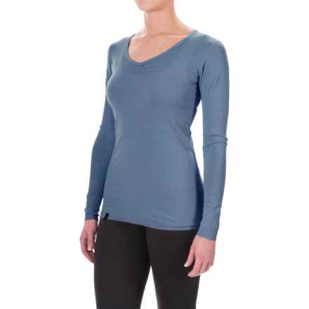 Ibex Woolies 1 Lightweight Base Layer Top - Merino Wool, V-Neck, Long Sleeve (For Women) in Baltic - Closeouts