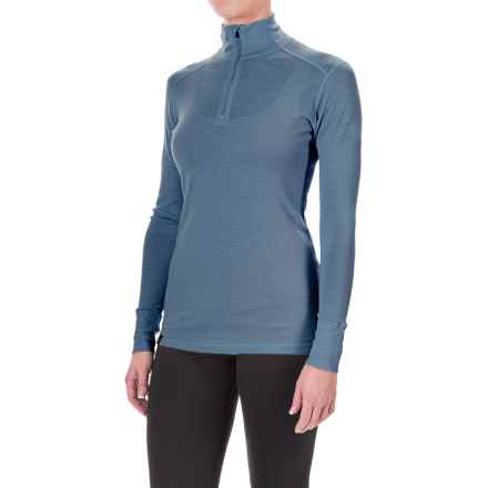 Ibex Woolies 1 Lightweight Base Layer Turtleneck - Merino Wool, Zip Neck, Long Sleeve (For Women) in Baltic - Closeouts