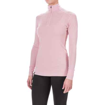 Ibex Woolies 1 Lightweight Base Layer Turtleneck - Merino Wool, Zip Neck, Long Sleeve (For Women) in Soapstone - Closeouts