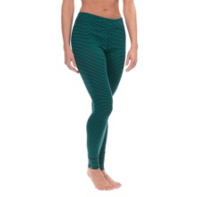 Ibex Woolies 1 Stripe Base Layer Bottoms - Merino Wool (For Women) in Juniper/Midnight Stripe - Closeouts
