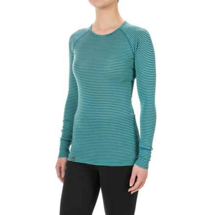 Ibex Woolies 1 Stripe Base Layer Top - Merino Wool, Long Sleeve (For Women) in Dragonfly/Meadow Stripe - Closeouts