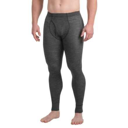 Ibex Woolies 1 Striped Base Layer Pants - Merino Wool (For Men) in Black/Medium Heather Grey Stripe - Closeouts
