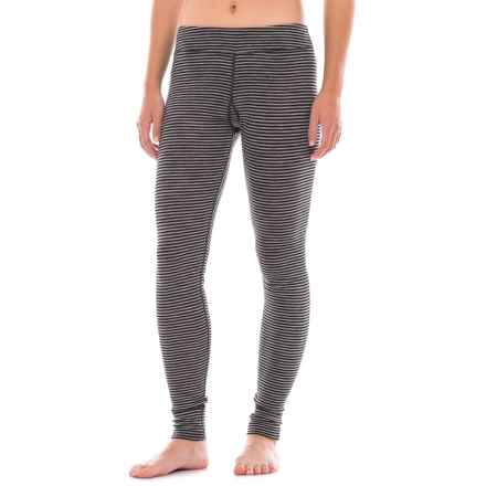 Ibex Woolies 1 Striped Base Layer Pants - Merino Wool (For Women) in Black/Medium Heather Grey Stripe - Closeouts