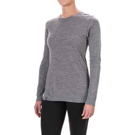 Ibex Woolies 2 Base Layer Top - Merino Wool, Crew, Long Sleeve (For Women) in Stone Grey Heather - Closeouts