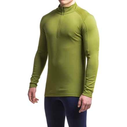Ibex Woolies 2 Base Layer Top - Merino Wool, Zip Neck, Long Sleeve (For Men) in Peat Moss - Closeouts