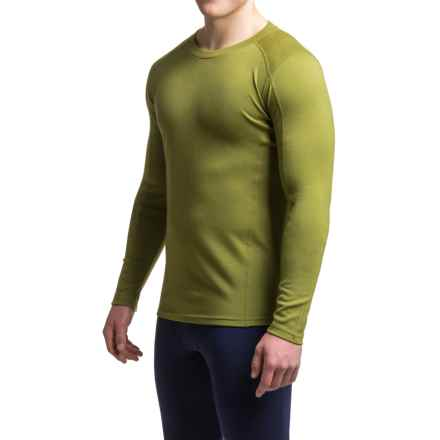 Ibex Woolies 2 Midweight Merino Wool Base Layer Top - Crew Neck (For Men) in Peat Moss - Closeouts