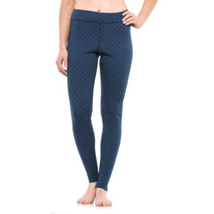 Ibex Woolies 2 Printed Base Layer Bottoms - Merino Wool (For Women) in Lattice / Baltic - Closeouts