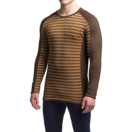 Ibex Woolies 2 Striped Base Layer Top - Merino Wool, Crew Neck, Long Sleeve (For Men) in Archer/Antelope Stripe - Closeouts
