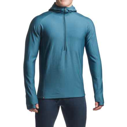 Ibex Woolies 3 Base Layer Hoodie - Merino Wool, Zip Neck (For Men) in Baltic - Closeouts