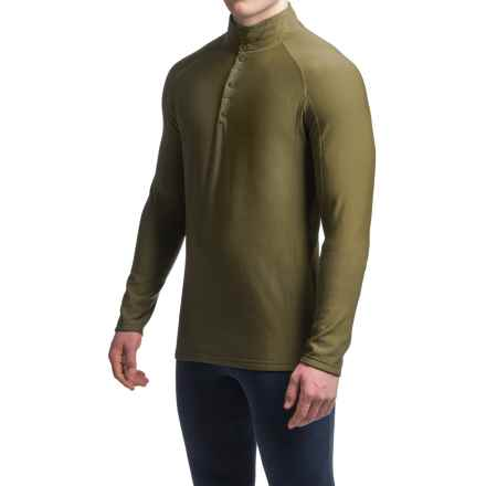 Ibex Woolies 3 Base Layer Top - Merino Wool, Snap Neck, Long Sleeve (For Men) in Acorn - Closeouts