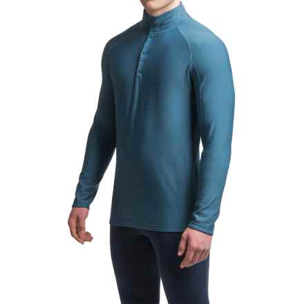 Ibex Woolies 3 Base Layer Top - Merino Wool, Snap Neck, Long Sleeve (For Men) in Baltic - Closeouts